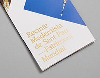 Sant Pau Recinte Modernista Tourists Brochure