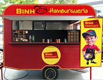 caricatura food truck