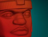 3D моделинг головы. Бренд Olmeca.