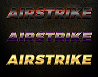 7 Premium Airstrike Photoshop metallic text styles