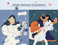 Glamour Russia Winter Illustrations
