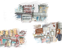 US road trip illustrations