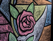 Chalk Wall Stained Glass - Nossa Senhora de Guadalupe