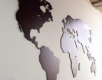 Word Map wall decoration for Garcia Rincon & Asociados