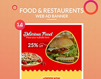 Food & Restaurents Web Ad Banner