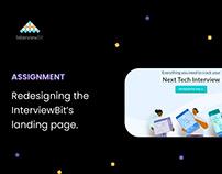 Redesigning InterviewBit's landing page