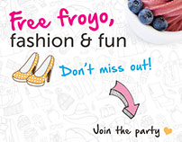 Froyo party - Social media graphics