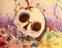 Crânio Psicodélico (ilustração)