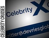 Celebrity Cruises Event Invites [DeVries Global]