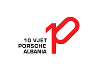 Porsche Albania 10th Anniversary Logo
