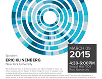 Eric Klinenberg Lecture @ Rice University