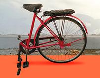 Nostalgic bike stool