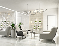 Commercial Interior 3D Visualization for Lobby Design
