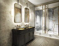 V-Ray Realistic Render of a Sumptuous Bathroom