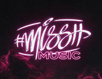 misshmusic logo & branding