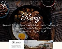 Remy Restaurant Website.