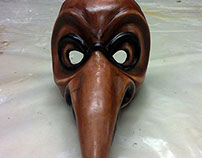 Dottore della Peste mask in hardened leather