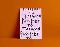 Passport to Taiwan - Poster Design for Bar Pa Tea