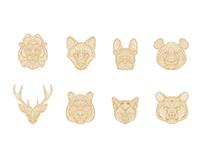 Animal icons // Line //