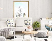 Scandinavian interior 3d Visuals