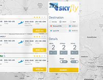 SkyFly branding and web UI