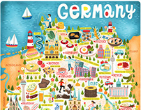 Map of Germany Illustration and Design