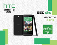 HTC Desire smartphone social media ad