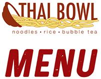 Thai Bowl Menu, Logo and Business Card
