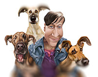 Charity Caricature of Elke Vogelsang