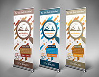 Travel Business Roll-Up Banner