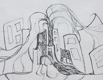 Абстракция, эскиз