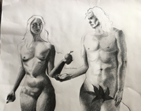 Adam and Eve Life Drawing
