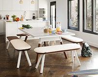 Dining Table & Ping Pong Table in One