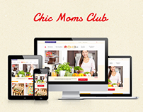 Chic Moms Club Responsive Website