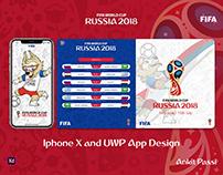 Adobe XD - FIFA World Cup 2018 App Design