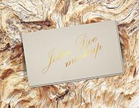 Free Gold Foil Business Card Mockup Psd