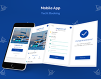 Mobile design | Yacht Booking