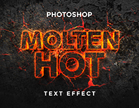 Free Molten Hot Text Effect