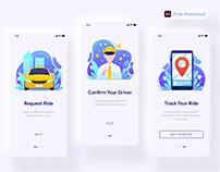 Taxi App Onboarding - (Freebie)