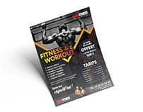 Print communication - Flyer - Fitness hall Bodyfitness