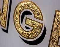 Gold Leaf Glass Sign - Lounge