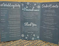 Tri-Fold Wedding Program