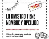 Placa Redes Sociales - Día del amigo / Cerdos & Cia