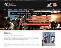 Sitio web Honda Rent Scooter de España.