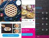Enjoy Pies App Design Mockup