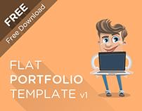 Flat Portfolio Template PSD