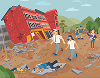 Disaster Guidance Infographics Book Series : Earthquake