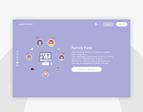 English Attack - Family Platform Landing Page