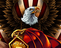 Eagle and Fire Helmet T-shirt Design
