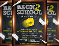 Back To School Party - Premium A5 Flyer Template